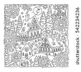 vector fantasy landscape. fairy ... | Shutterstock .eps vector #542234236