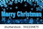 christmas decorations merry... | Shutterstock . vector #542234875