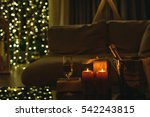 golden christmas decoration.... | Shutterstock . vector #542243815