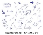 collection of hand drawn doodle ... | Shutterstock .eps vector #54225214