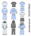 set of sportswear for boys... | Shutterstock .eps vector #542253862