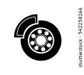 car brakes vector icon   Shutterstock .eps vector #542258266