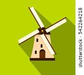 windmill icon. flat... | Shutterstock .eps vector #542264218