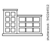 industrial building icon.... | Shutterstock .eps vector #542264512