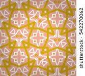 Coral Pink Geometric Seamless...