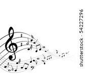 abstract vector musical... | Shutterstock .eps vector #54227296