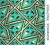 bright blue ornamental seamless ... | Shutterstock .eps vector #542275315