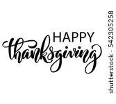 happy thanksgiving brush hand... | Shutterstock . vector #542305258