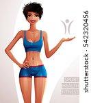 beautiful coquette lady... | Shutterstock . vector #542320456