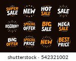 vector set colorful labels for... | Shutterstock .eps vector #542321002