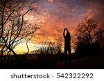 young boy traveler... | Shutterstock . vector #542322292
