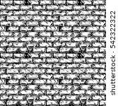 seamless black and white...   Shutterstock .eps vector #542322322