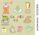 coffee cup set | Shutterstock .eps vector #54232306