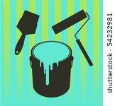repaint equipment | Shutterstock .eps vector #54232981