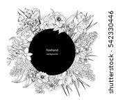 vector hand drawn primroses ... | Shutterstock .eps vector #542330446