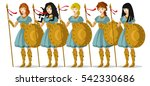 brave army of soldier greek... | Shutterstock .eps vector #542330686