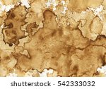 brown coffee stains on paper.... | Shutterstock . vector #542333032