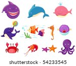 illustration of isolated set of ... | Shutterstock .eps vector #54233545