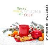 christmas decoration over...   Shutterstock . vector #542338666