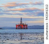 semi submersible oil rig at... | Shutterstock . vector #542341312