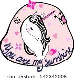 cartoon fairytale unicorn on... | Shutterstock .eps vector #542342008