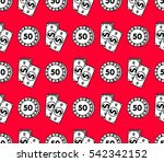playing casino chips and... | Shutterstock .eps vector #542342152
