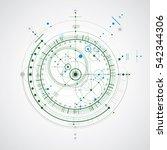 technical plan  blue abstract... | Shutterstock . vector #542344306