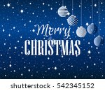 merry christmas. background... | Shutterstock .eps vector #542345152
