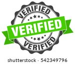 verified. stamp. sticker. seal. ... | Shutterstock .eps vector #542349796