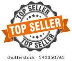 top seller. stamp. sticker.... | Shutterstock .eps vector #542350765