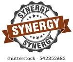 synergy. stamp. sticker. seal....   Shutterstock .eps vector #542352682