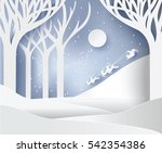 paper art landscape of... | Shutterstock .eps vector #542354386