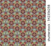 patch boho flower seamless... | Shutterstock . vector #542356258