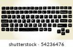set of hand drawn keyboard... | Shutterstock .eps vector #54236476