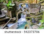 aquamarine waterfall sierra... | Shutterstock . vector #542373706