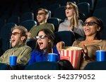 3d reality. people wearing 3d... | Shutterstock . vector #542379052
