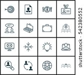 set of 16 business management... | Shutterstock .eps vector #542380552