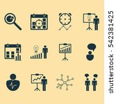 set of 12 administration icons. ... | Shutterstock .eps vector #542381425