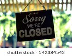 closed sign | Shutterstock . vector #542384542