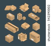 cardboard box vector packaging... | Shutterstock .eps vector #542390002