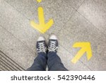 blurred background feet and two ... | Shutterstock . vector #542390446