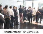 blurred background queue | Shutterstock . vector #542391316