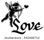 artistic written single word ... | Shutterstock .eps vector #542400712