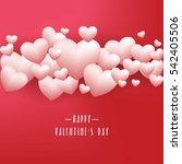 realistic white romantic... | Shutterstock .eps vector #542405506