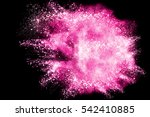 abstract powder splatted... | Shutterstock . vector #542410885