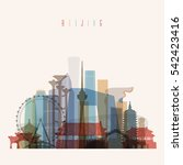 transparent styled beijing... | Shutterstock .eps vector #542423416