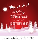 vector illustration of santa... | Shutterstock .eps vector #542424232
