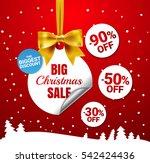 big christmas sale. white... | Shutterstock .eps vector #542424436