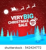 big christmas sale. vector... | Shutterstock .eps vector #542424772