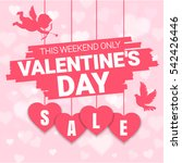 valentine's day sale offer ... | Shutterstock .eps vector #542426446